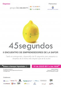 CARTEL II ENCUENTRO DE EMPRENDEDORES DE LA SAFOR. OBRA SOCIAL GRUPO ICSAM LUZEA